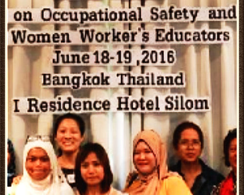 Workshop on Occupational Safety and Health for Women Workers' Educators